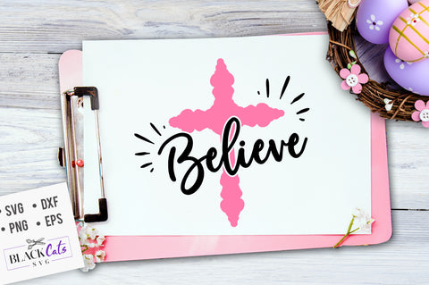 Believe SVG file Cutting File Clipart in Svg, Eps, Dxf, Png for Cricut & Silhouette