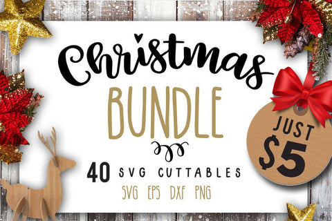 Christmas bundle 40 SVG file Cutting File Clipart in Svg, Eps, Dxf, Png for Cricut & Silhouette