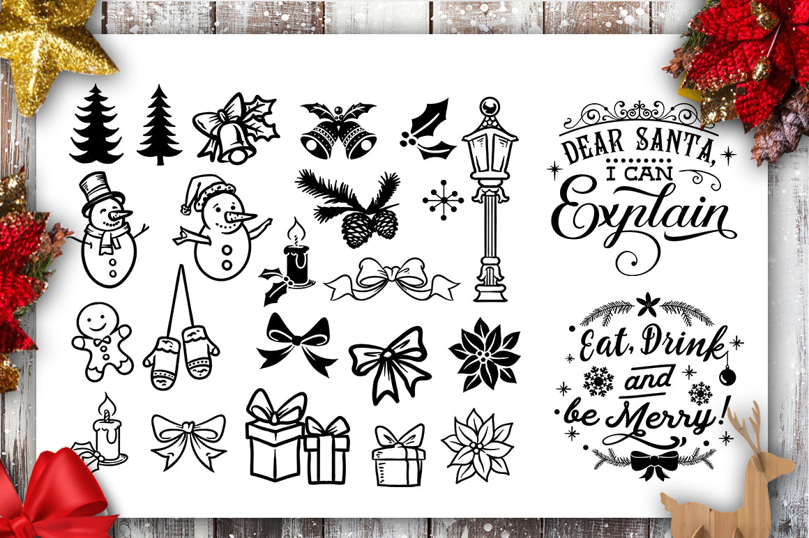Download Christmas bundle 40 SVG file Cutting File Clipart in Svg ...