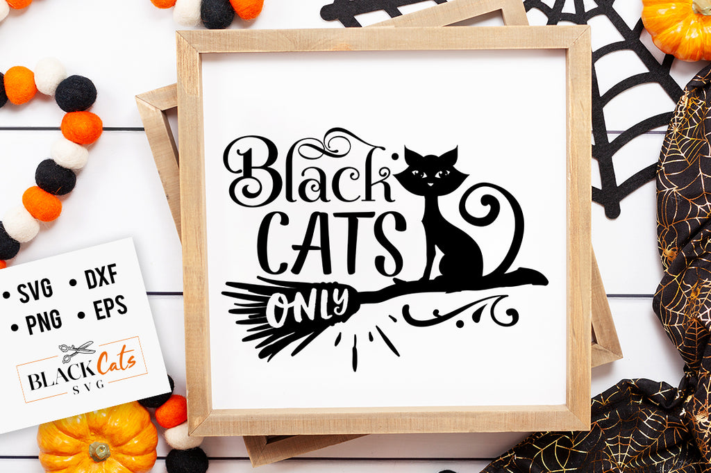 Black Cats Only SVG File