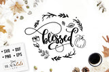 Blessed  SVG file Cutting File Clipart in Svg, Eps, Dxf, Png for Cricut & Silhouette