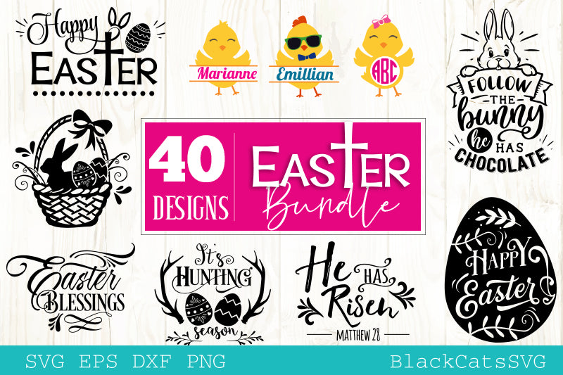 Easter Bundle SVG 40 designs