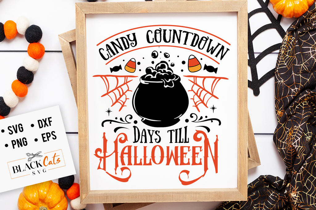 Candy Countdown SVG File