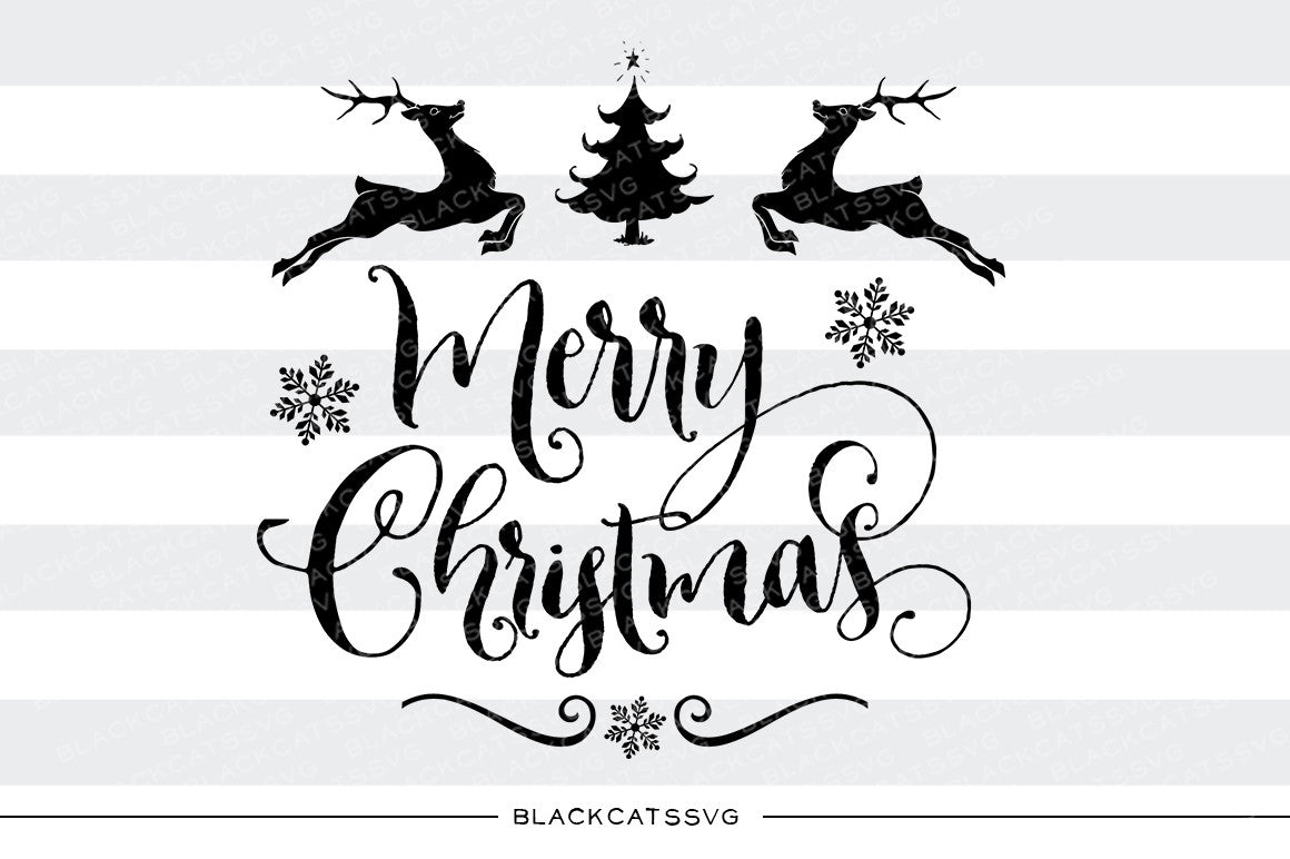 merry christmas svg cutting file blackcatssvg