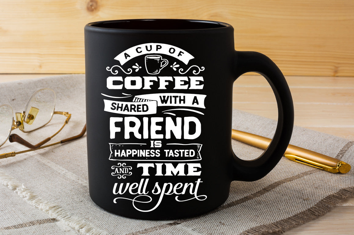 Download A cup of coffee shared with a friend SVG file SVG file ...