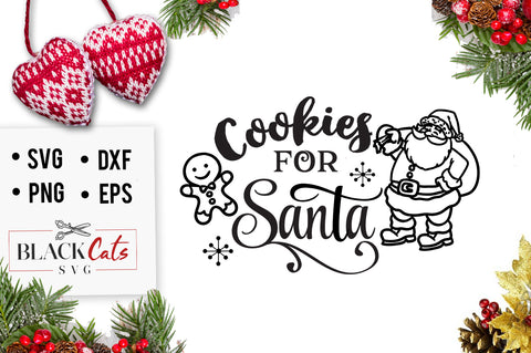 Cookies for Santa SVG cutting file