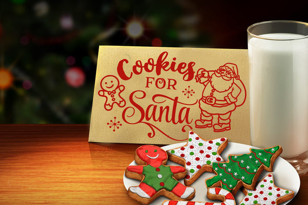 Cookies For Santa Svg Cutting File Blackcatssvg