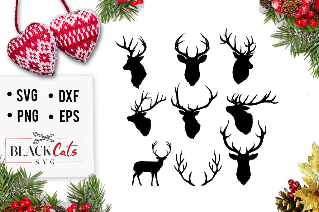 Deer Heads SVG