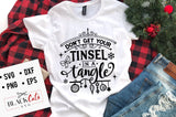 Don't get your tinsel in a tangle SVG