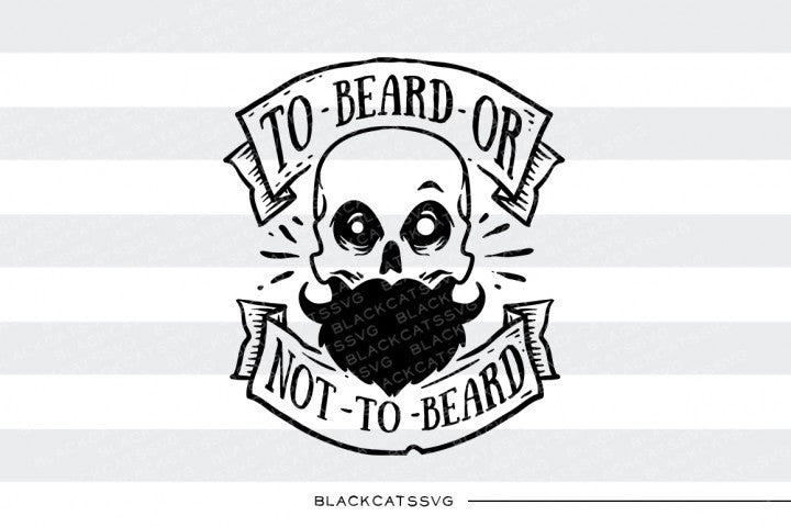 To beard or not to beard SVG files - BlackCatsSVG
