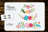 Flower wreaths SVG