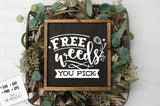 Free weeds you pick SVG