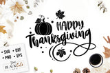 Happy Thanksgiving  SVG file Cutting File Clipart in Svg, Eps, Dxf, Png for Cricut & Silhouette