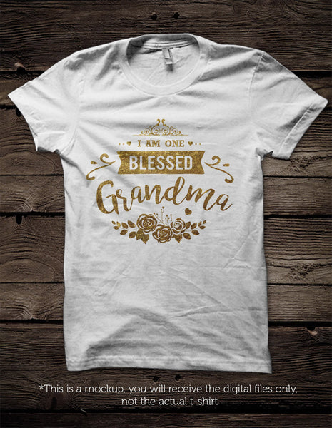 I Am One Blessed Grandma Svg File Cutting File Clipart In