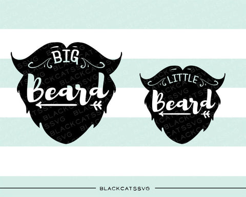 Daddy and me svg  little beard big beard SVG file Cutting File Clipart in Svg, Eps, Dxf, Png for Cricut & Silhouette  svg - BlackCatsSVG