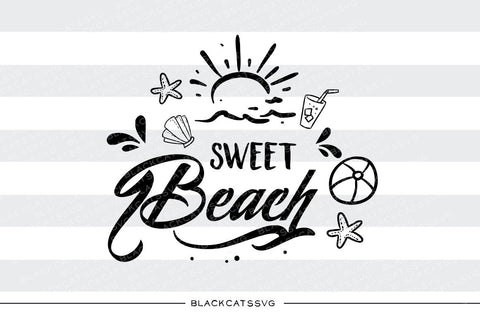 Sweet beach -  SVG file Cutting File Clipart in Svg, Eps, Dxf, Png for Cricut & Silhouette - beach svg - BlackCatsSVG
