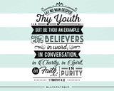 Let no man despise thy youth -  SVG file Cutting File Clipart in Svg, Eps, Dxf, Png for Cricut & Silhouette - Bible quote 1 Timothy 4 12 - BlackCatsSVG