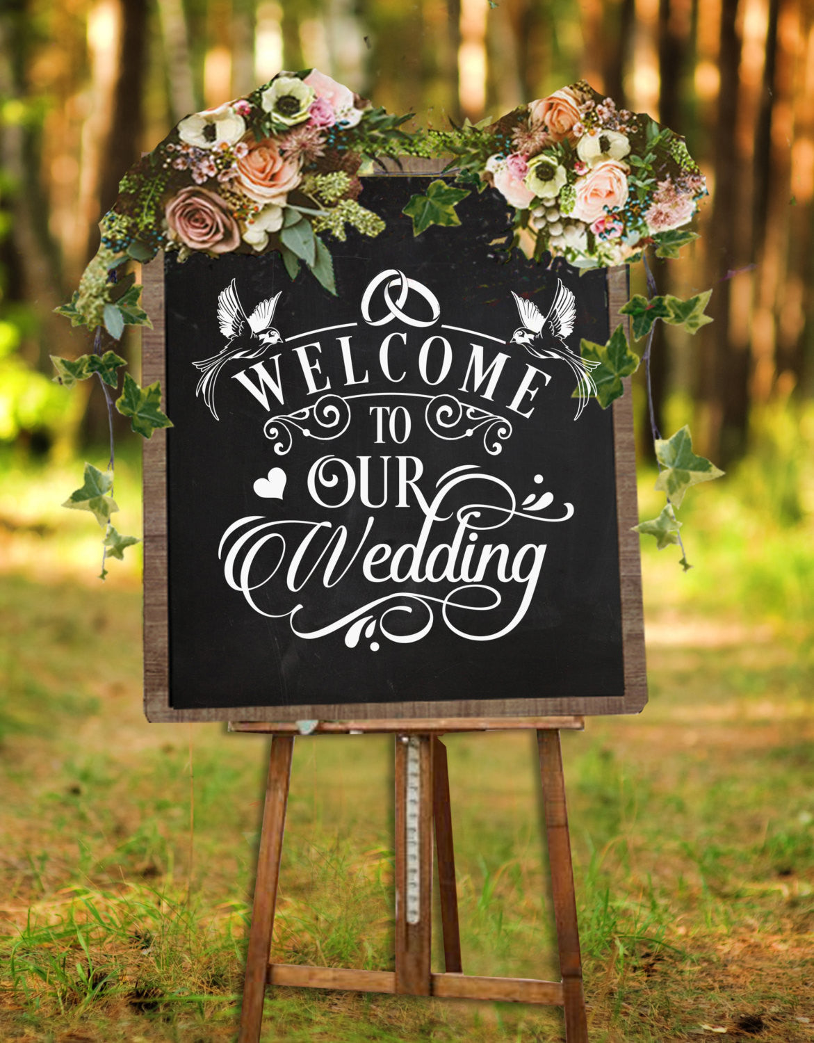 Welcome To Our Wedding Sign SVG File Cutting File Clipart