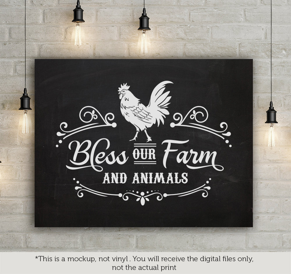 Bless Our Farm And Animals Svg File Cutting File Clipart In Svg Eps Blackcatssvg