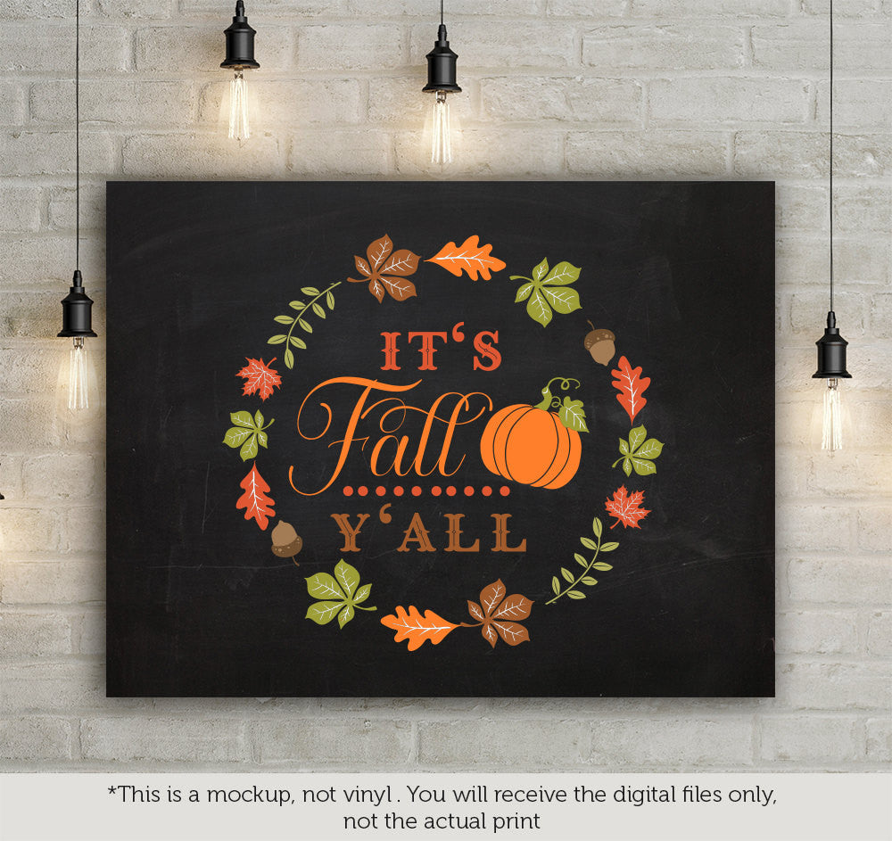 It S Fall Y All Svg File Cutting File Clipart In Svg Eps Dxf Png Blackcatssvg