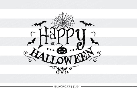 Happy Halloween  - SVG file Cutting File Clipart in Svg, Eps, Dxf, Png for Cricut & Silhouette - Halloween SVG - BlackCatsSVG