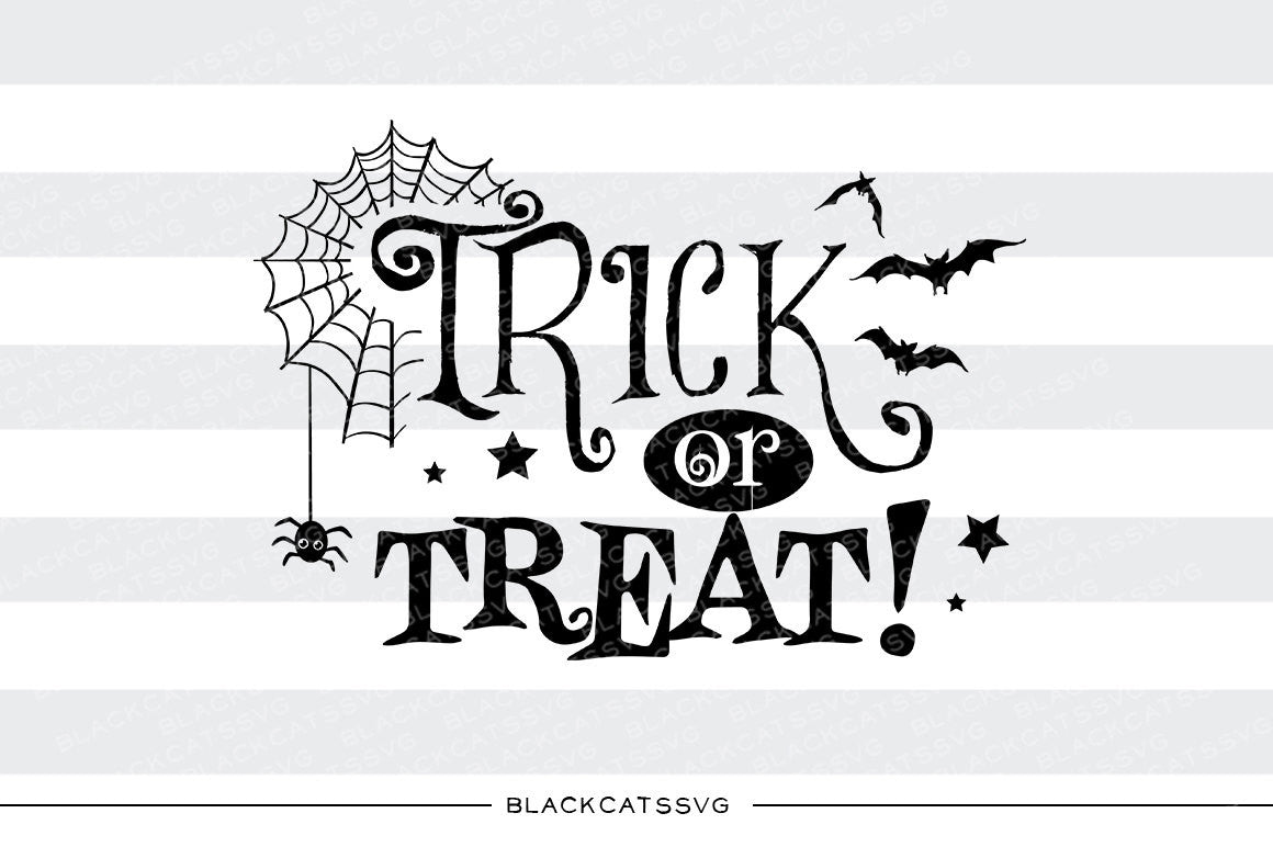 Halloween Trick Or Treat Silhouette.Trick Or Treat Svg File Cutting File Clipart In Svg Eps Dxf Png For Cricut Silhouette Halloween Svg