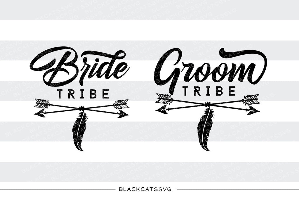 Bride tribe Groom tribe SVG file Cutting File Clipart in Svg, Eps, Dxf, Png for Cricut & Silhouette  svg - BlackCatsSVG
