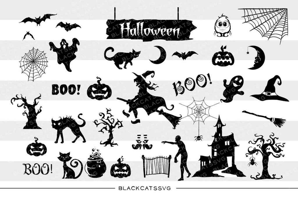 Big pack for Halloween - 31 SVG file Cutting File Clipart in Svg, Eps, Dxf, Png for Cricut & Silhouette - Halloween SVG - BlackCatsSVG