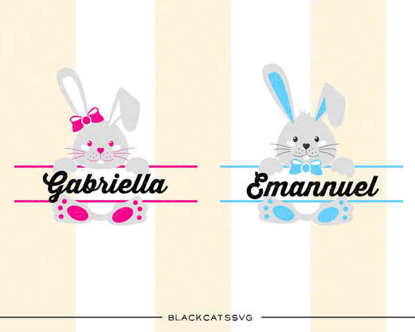 Easter Bunnies Svg Boy And Girl File Cutting File Clipart