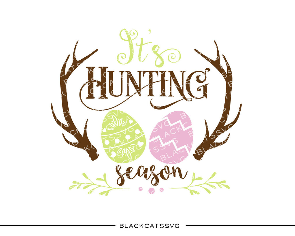 Egg Hunt Easter Hunting Season Eggs Svg File Cutting File Clipart I Blackcatssvg