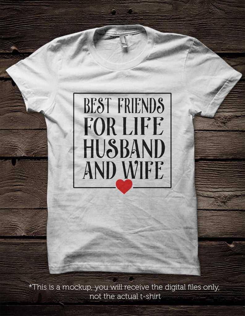 Best Friends For Life Husband And Wife Svg File Cutting File Clipart I Blackcatssvg