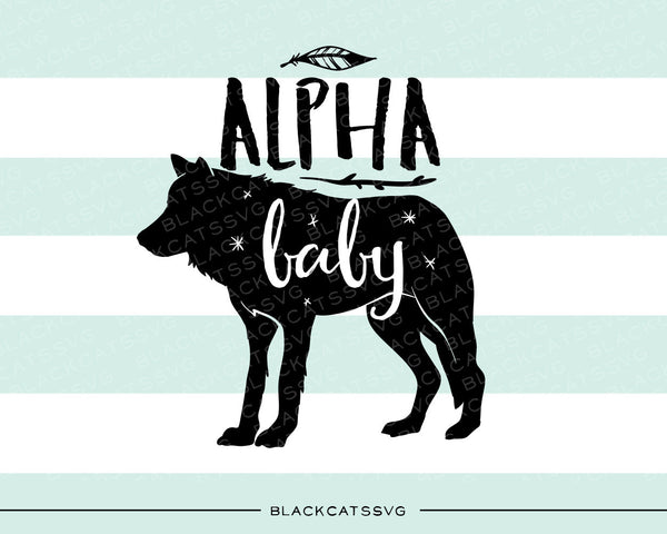 Alpha Baby Wolf Svg File Cutting File Clipart In Svg