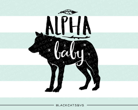 Alpha baby wolf -  SVG file Cutting File Clipart in Svg, Eps, Dxf, Png for Cricut & Silhouette - BlackCatsSVG