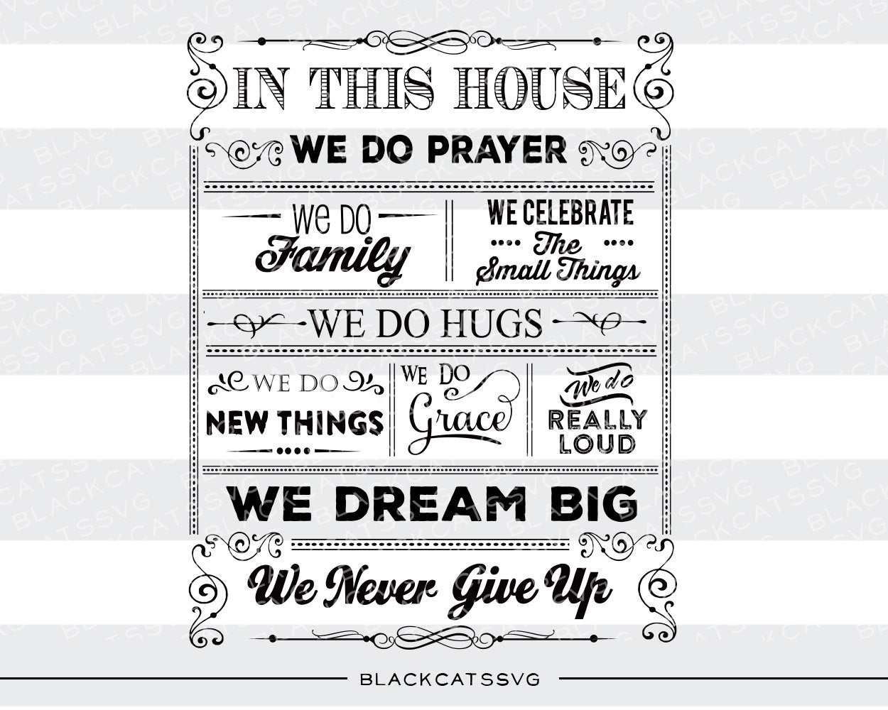 In This House Quotes Svg File Cutting File Clipart In Svg Eps