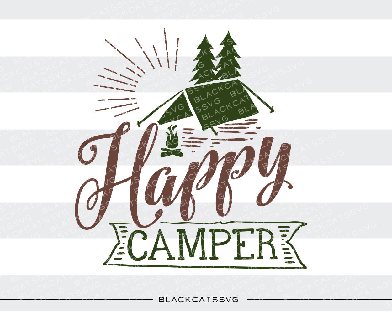 Camping Outdoors SVG File Cutting Clipart In Svg Eps Dxf