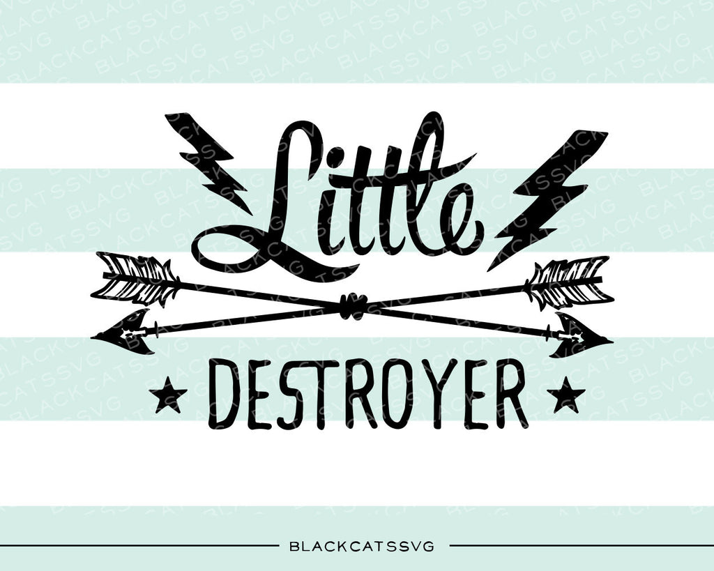 Little destroyer SVG file Cutting File Clipart in Svg, Eps, Dxf, Png for Cricut & Silhouette Tiny destroyer svg - BlackCatsSVG