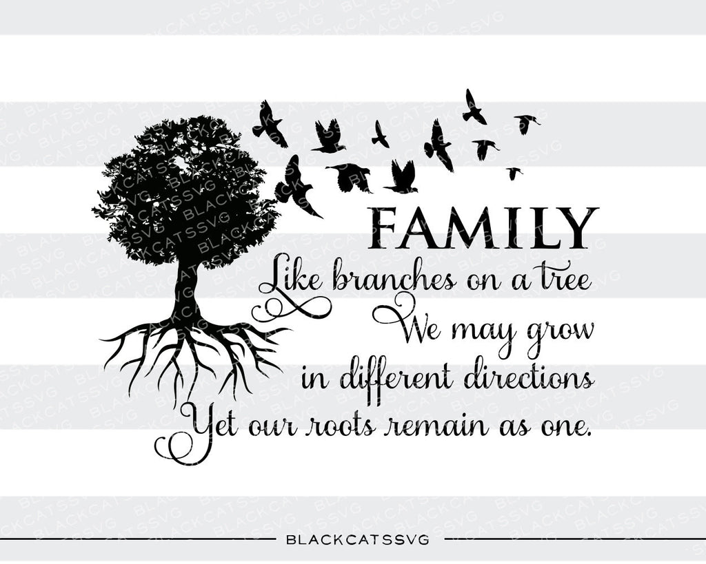 Family tree -  SVG file Cutting File Clipart in Svg, Eps, Dxf, Png for Cricut & Silhouette - BlackCatsSVG