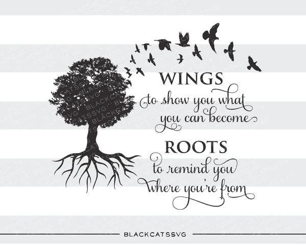Wings And Roots Family Tree Svg File Cutting File