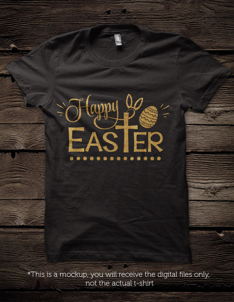 Happy Easter Svg Cross And Bunny Ears File Cutting File Clipart In Svg Blackcatssvg