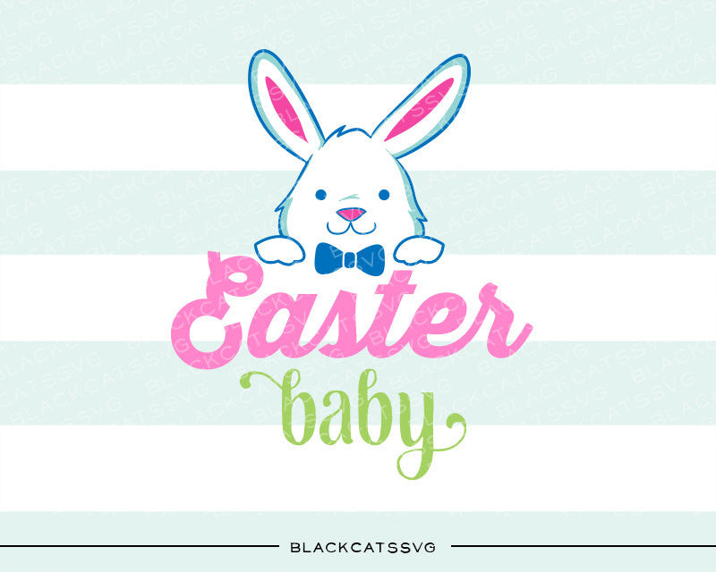 Easter baby Bunny - colored  SVG boy and girl file Cutting File Clipart in Svg, Eps, Dxf, Png for Cricut & Silhouette - BlackCatsSVG