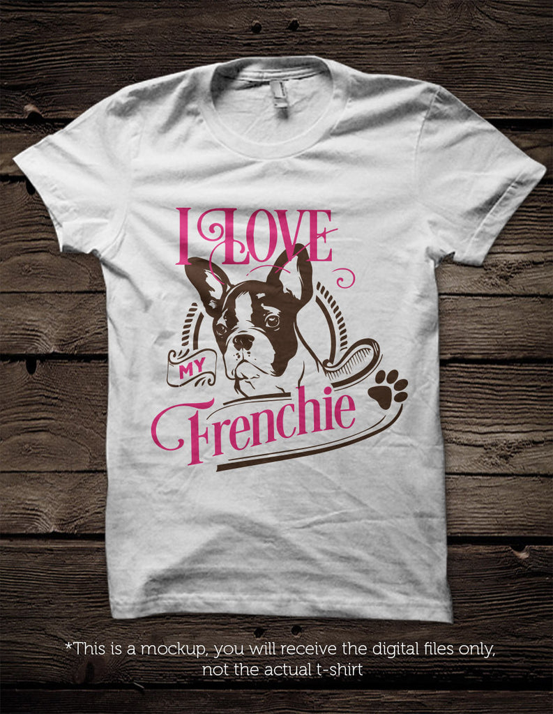 I Love My French Bulldog Svg File Cutting File Clipart In Svg Eps Blackcatssvg