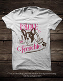 I love my french bulldog -  SVG file Cutting File Clipart in Svg, Eps, Dxf, Png for Cricut & Silhouette - I love my frenchie - BlackCatsSVG