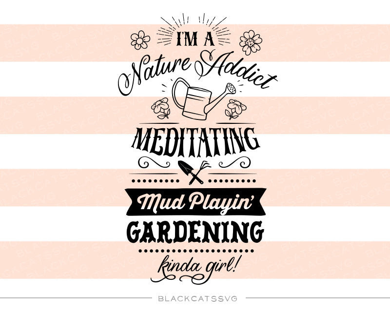 I'm a gardening kinda girl  -  SVG file Cutting File Clipart in Svg, Eps, Dxf, Png for Cricut & Silhouette - BlackCatsSVG
