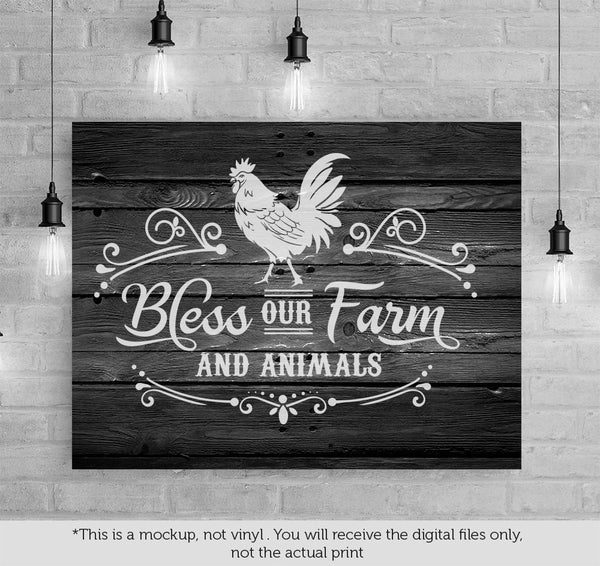 Bless Our Farm And Animals Svg File Cutting File Clipart