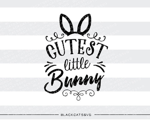Cutest Little Bunny - colored  SVG boy and girl file Cutting File Clipart in Svg, Eps, Dxf, Png for Cricut & Silhouette - BlackCatsSVG