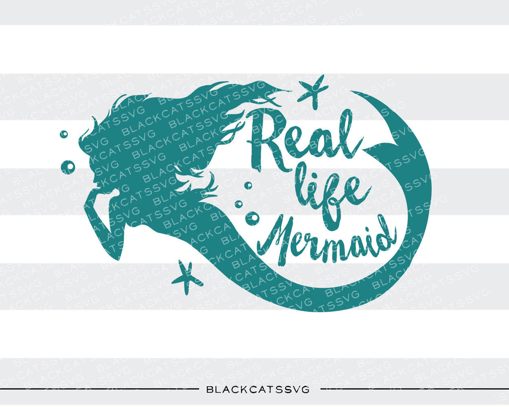Real life mermaid SVG file Cutting File Clipart in Svg, Eps, Dxf, Png for Cricut & Silhouette svg - BlackCatsSVG