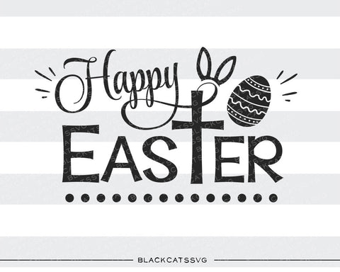 Happy Easter  SVG cross and bunny ears file Cutting File Clipart in Svg, Eps, Dxf, Png for Cricut & Silhouette - BlackCatsSVG
