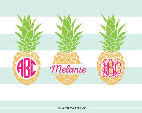 Pineapples SVG file Cutting File Clipart in Svg, Eps, Dxf, Png for Cricut & Silhouette monogram pineapple split pineapple svg - BlackCatsSVG