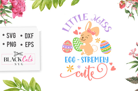 Little miss egg-stremely cute  SVG file Cutting File Clipart in Svg, Eps, Dxf, Png for Cricut & Silhouette
