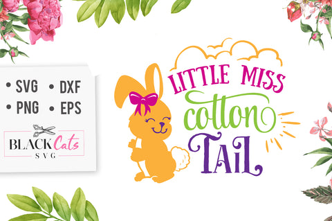 Little miss cottontail SVG file Cutting File Clipart in Svg, Eps, Dxf, Png for Cricut & Silhouette